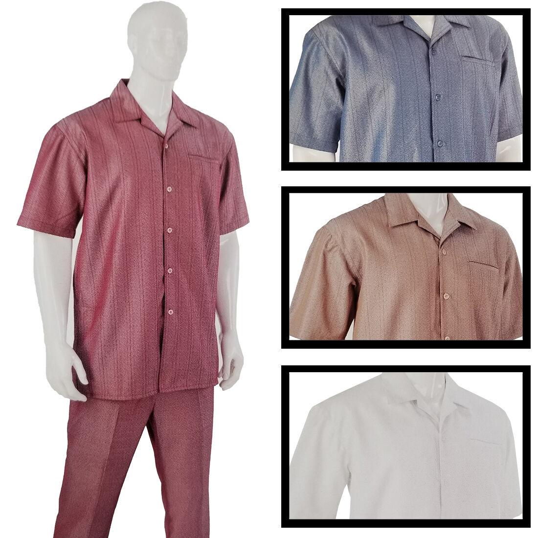 NEW LUXTON SET Uomo 2 PCS SET LUXTON Luxury Linen Casual Design Color Walking 100% POLY 5e972c