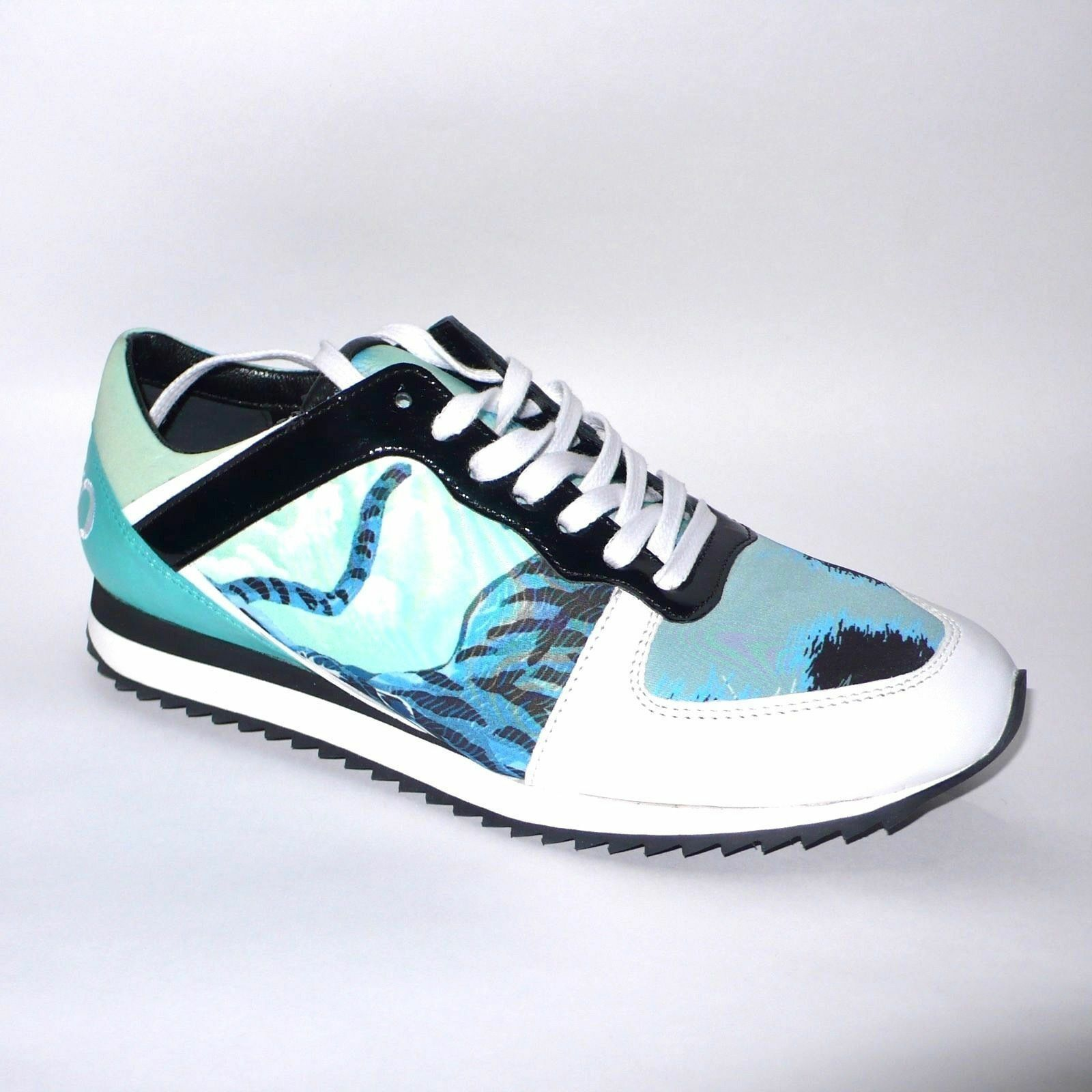 Kenzo Tiger Sneakers Sport shoes bluee Green EU 38