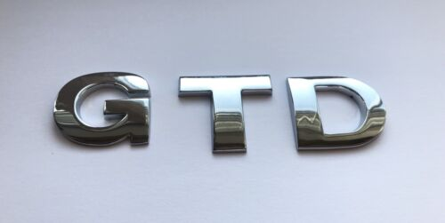 Chrome  3D Self-adhesive Car Letters badge emblem sticker Spelling GTD