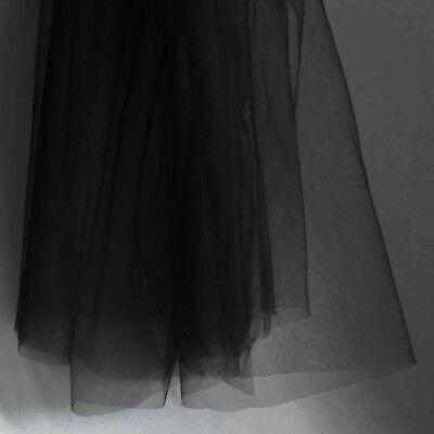Super Fine Noir souple délicat tulle tissu largeur 150 cm-Vendu au mètre