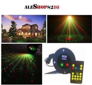 Proiettore Luci Laser Natale.Proiettore Luci Laser Magia Esterno Natale Su Picchetto Con Puntini