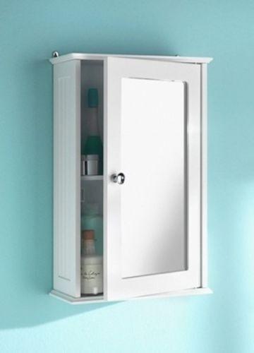 Un tout nouveau miroir unique en bois blanc porte armoire de rangement avec étagère intérieur