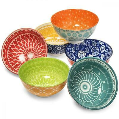 Salad and Dessert 6 inch Cereal M-MAX Ceramic Bowls Set of 4 for Soup