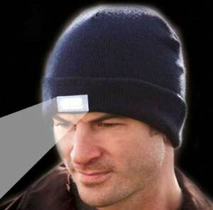 5-LED Beanie Lighted Cap Winter Warm Flashlight Black Style Hunting Camping Hat