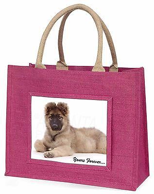 Schäferhund Welpe dir für immer Große Rosa Einkaufstasche Weihnachten,