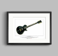 James Hetfield's ESP JH-3 guitar Limited Edition Fine Art Print A3 size