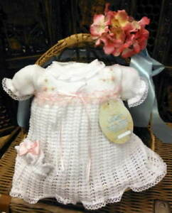 Will'beth Preemie Newborn Baby Girl Knit Dress Set Headband NWT Take-Me-Home