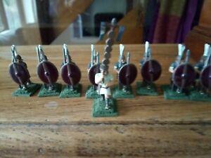 Figure-in-metallo-giochi-di-guerra-x-9-SOLDATI-ROMANI-25mm