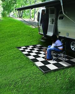 Image Is Loading Reversible Outdoor Mat Rv 6 X 9 Camping