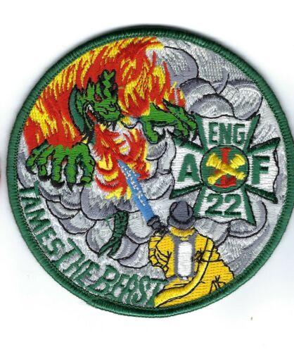 """Engine 22 /""""Tames the Beast/"""" patch Atlanta GA Georgia Fire Dept NEW!"""