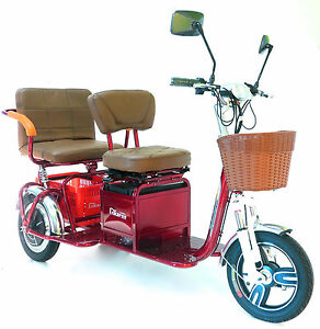 New Trikaroo 2 Person Electric Mobility Scooter Pedicab E