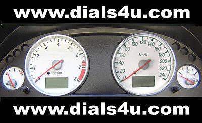 FORD MONDEO Mk3 (2000-2007) - 240km/h (Petrol or Diesel) - WHITE DIAL KIT
