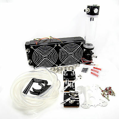 Water Cooling Kit 30mm 240 Radiator CPU GPU Block Pump Reservoir Tube USA Seller