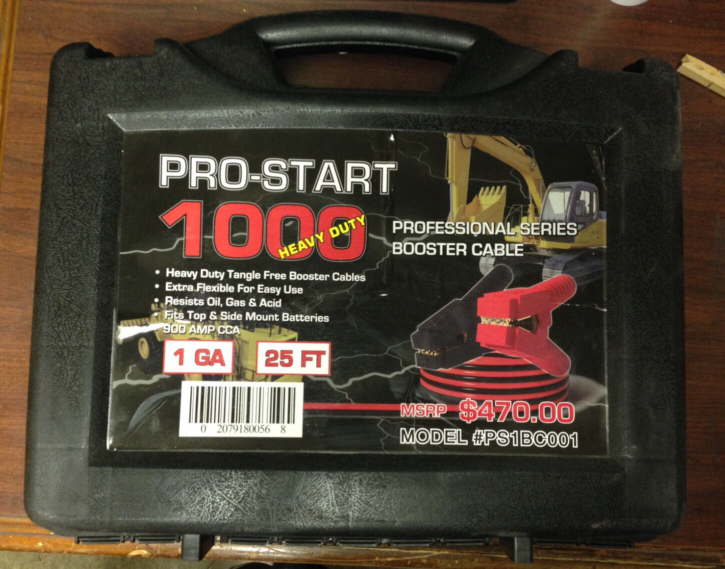 PRO-START 1 GAUGE 25 FT BOOSTER CABLE - NEW - FREE SHIPPING