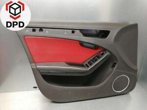 Audi-A4-S4-8K-Tuerverkleidung-Tuerpappe-vorne-links-8K1867105-Leder-Rot