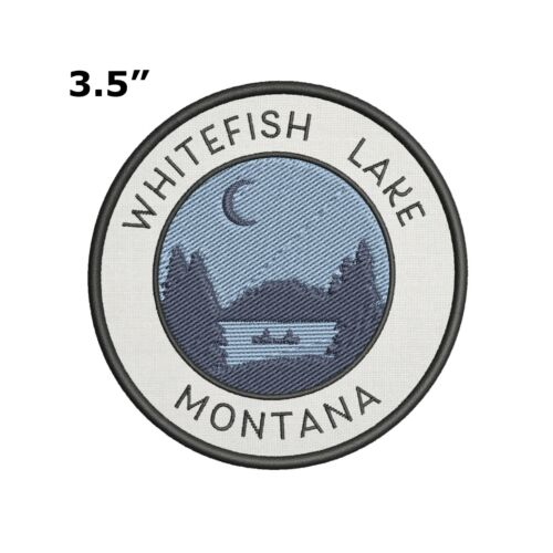 Sew-on Hiking Souvenir Travel Whitefish Lake Montana Embroidered Patch Iron