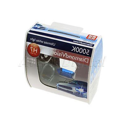 2X PHILIPS Diamond Vision 5000k white headlight bulb H7 55W 12V DC