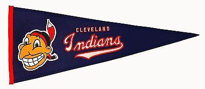 Sport Mlb Baseball Cleveland Indians Chief Banner Großer Wimpel Pennant Heritage Wolle Die Nieren NäHren Und Rheuma Lindern
