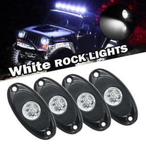 4x Blue 9W CREE LED Rock Light Trail Under Body Offroad Truck Driving Rig Lamp
