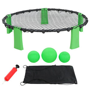 Beach-Volleyball-Style-Game-Set-Combo-Target-3-balls-bag-Spike-Ball-Game