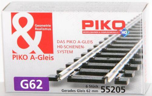 - NEU Piko H0 55205-S Gerades Gleis G62 OVP Länge 62 mm 6 Stück