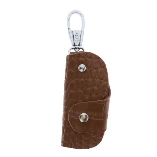 Premium Genuine Leather Key Case Holder Pocket Pouch Keychain Ring Men Women