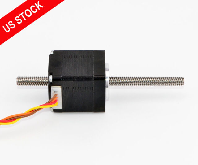 NEMA 11 Stepper Motor 1 8 Deg Linear Actuator 0 75a Lead Screw Length 100mm