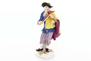 Meissen-Porcelain-Figurine-Statue-Violin-Player-Musician-20th-Century-10-cm