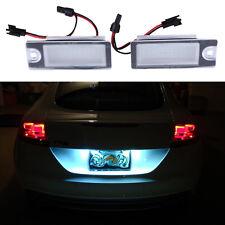 2X LED Car Number License Plate Light Lamp 6000K for Volvo V70 XC70 S60 S80 XC90