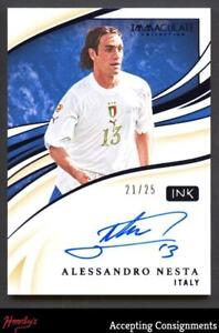 2020 Immaculate Collection Ink Sapphire #3 Alessandro Nesta Autograph AUTO 21/25