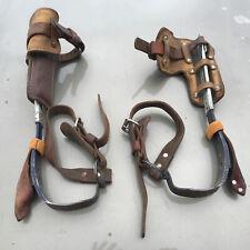 Klein Tools 8210 R Amp L Tree Pole Climbing Gaffs Spikes Leather Bashlin Deer Hunt