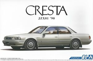 Aoshima-1-24-The-Model-Car-81-Kit-Toyota-JZX81-Cresta-2-5-Super-Lucent-G-1990