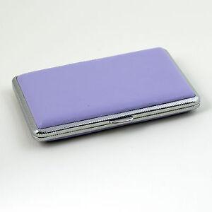 Violet-Leather-Slim-Cigarette-Case-Box-100-039-s-Hold-For-14-100mm-Cigarettes-308