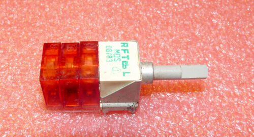 RFT Mini-Drehschalter MDS 6 Wechsler 6 Stellungen unbenutzt