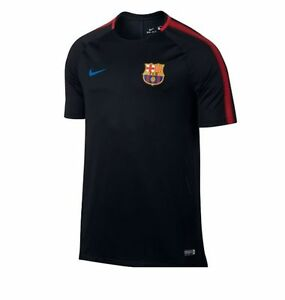 6d09dc8c93a Nike FC Barcelona Official 2017 - 2018 Soccer Training Jersey Black ...