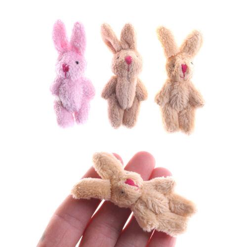 Cute Soft Mini Joint Rabbit Pendant Plush Bunny Toy Doll DIY Key Chain Gifts /_G