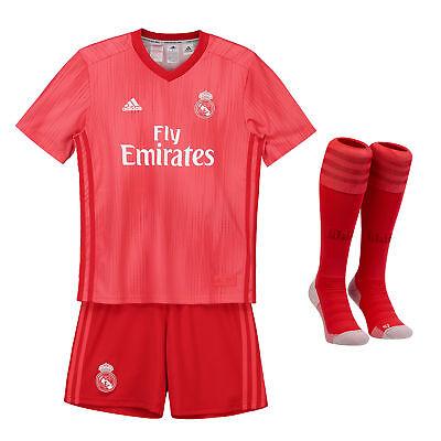 Fiducioso Ufficiale Real Madrid Terza Kids Kit 2018 19 Shirt Jersey Pantaloncini Tuta Calcio Annuncio-