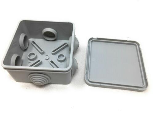 1x Abzweigdose Aufputz Abzweigkasten mit Drosseln IP44 80x80x40 M-L 0042