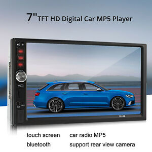 7-034-Pulgadas-2-DIN-Coche-MP5-Reproductor-de-MP3-Pantalla-Tactil-Bluetooth-Estereo