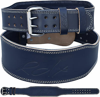 """RDX Weight Lifting 4"""" Leather Belt Back Support Strap Gym Training Power Fitness"""