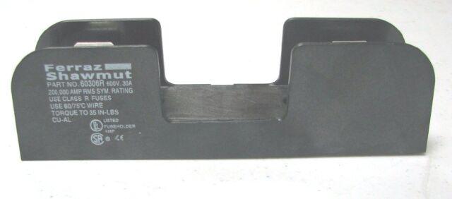 Ferraz Shawmut 60306R 30 A 600 V Fuse Block/Holder Pole Class R