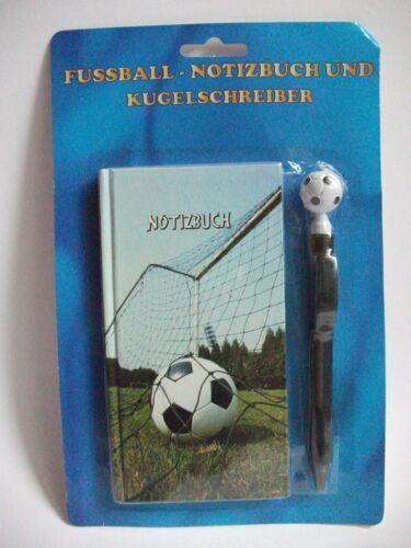 Fußballmotiv Notizbuch m Kugelschreiber Fußballparty Mitgebsil