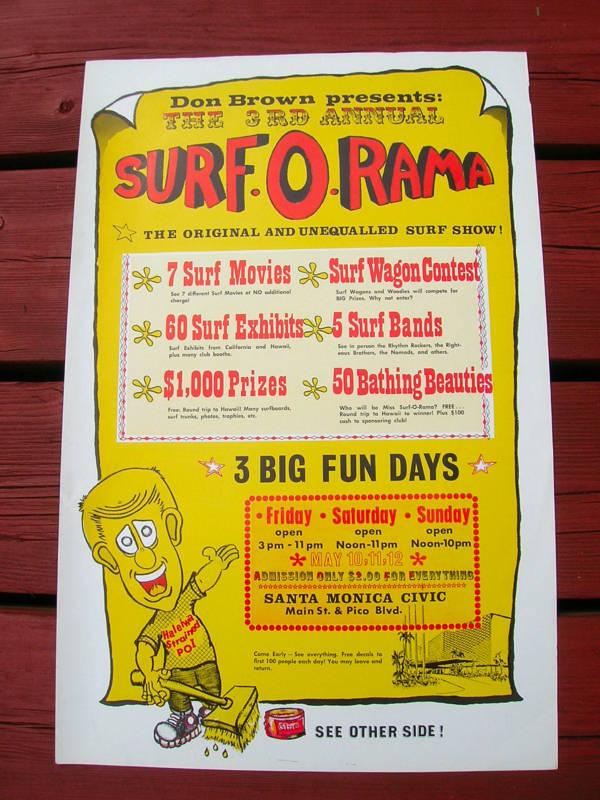 Poster Vintage Surfista película Surf Tabla De Surf Don Marrón Tabla De Surf dos Cocheas agradable