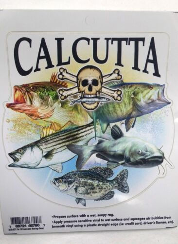 Calcutta Freshwater Montage Decal for Trucks//Cars//Boats Color Fish//Skull Design
