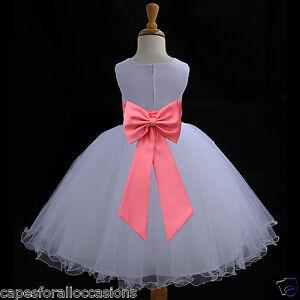 IVORY WEDDING PAGEANT FLOWER GIRL DRESS 12-18m 2 2T 3 3T 4 4T 5 6 6X 8 10 12 14