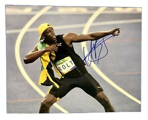 USAIN-BOLT-Original-Signed-Autographed-11X14-SUMMER-OLYMPICS-Photo-COA-Runner