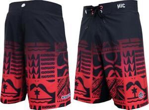 "HIC 20/"" Army Beach 8 Way Stretch Boardshorts Hawaiian Island Creations"