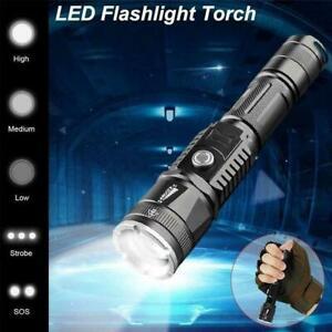 400000LM-Led-Strong-Light-Flashlight-Mulfuntion-XM-L-L2-Torch-USB-Charging