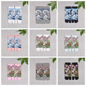 Split-Toe-Sandal-Short-Socks-Geta-Kimono-Flip-Flop-Wave-Sakura