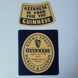 Vintage-Beer-Label-Guinness-Extra-Stout-with-LCBO-Canada-Neckband
